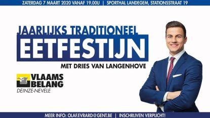 Dries Van Langenhove te gast op eetfestijn Vlaams Belang