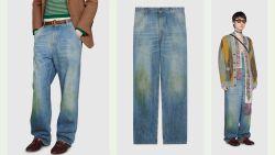 Farmer chic? Gucci verkoopt vuile jeansbroek met stevig prijskaartje