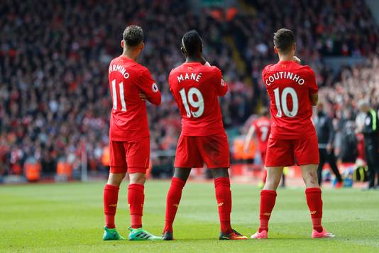 Liverpool viert de treffer van Mané.
