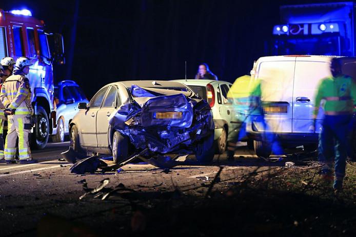 Ongeluk op N35 bij Raalte.