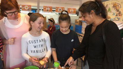 """Jinnih Beels proeft van gezonde lunch op Nederlandse school: """"Volgend schooljaar ook in enkele Antwerpse scholen"""""""