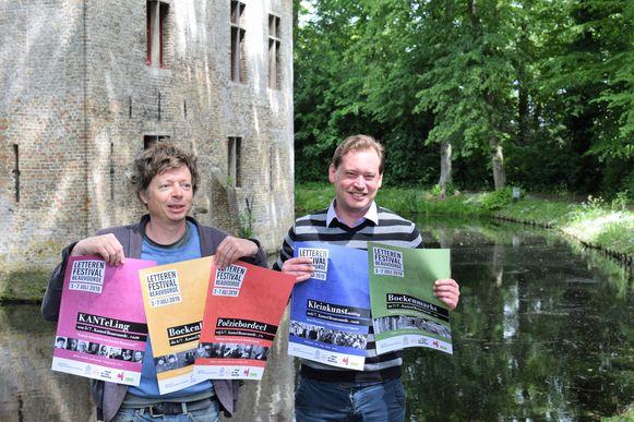 Nicolas Leus van KANTL en Stijn Jodts presenteren de eerste editie van het letterenfestival.