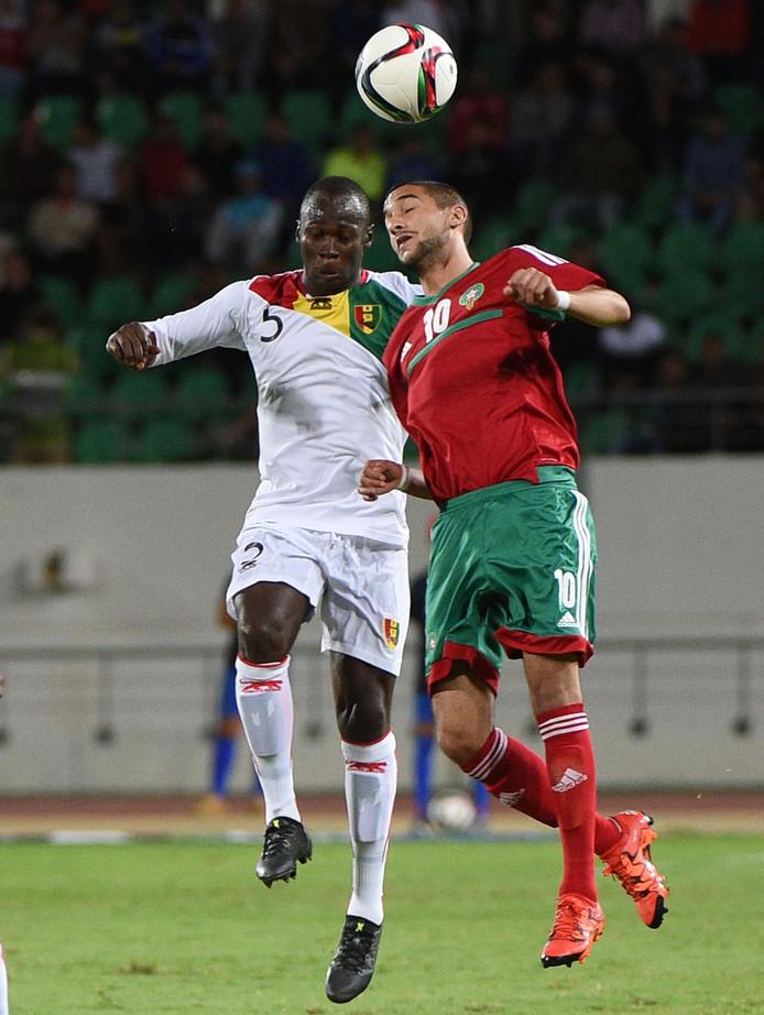Ziyech in actie namens Maroko.