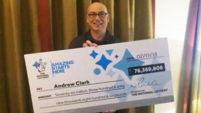 Bouwvakker checkt na 6 weken zeuren van familie eindelijk stapeltje lottotickets. Hij blijkt 84 miljoen gewonnen te hebben