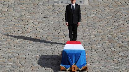 Clinton, Poetin en 80 andere (ex-)leiders nemen afscheid van Chirac