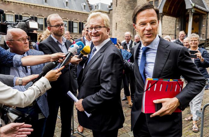 Mark Rutte (VVD) en Hans de Boer van werkgeversorganisatie VNO-NCW