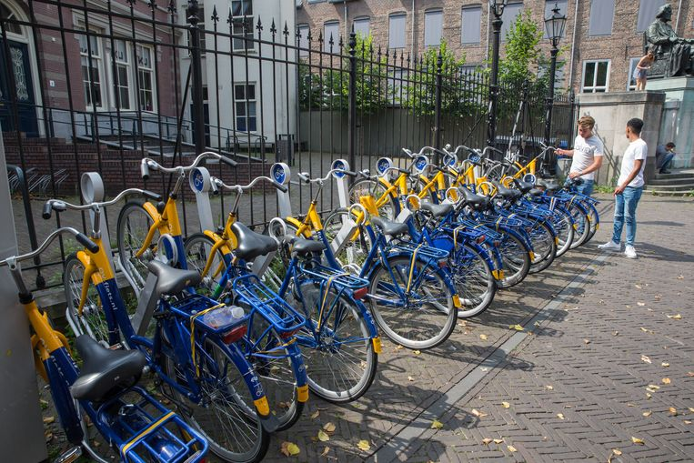 Ov-fietsen klaar voor gebruik. Beeld Hollandse Hoogte / Harold Versteeg