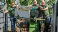 André, Freddy en Dirk zorgen al 10 jaar voor de composthoek op De Appelwijk