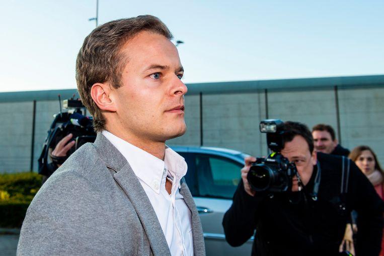 Bart Vertenten bij zijn vrijlating op 16 november.