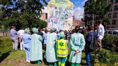 Fresco ingehuldigd als eerbetoon aan zorgpersoneel