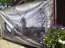 De molen in de Molenstraat na de bevrijding.