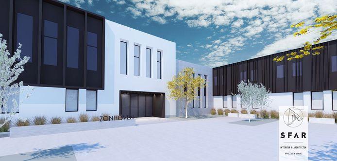 De gemeente liet al plannen uittekenen voor een totale renovatie van de buitengevel