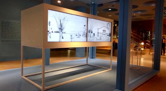 De nieuwe expo ruimte op station Breda