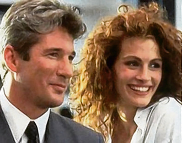 Julia Roberts in Pretty Woman.