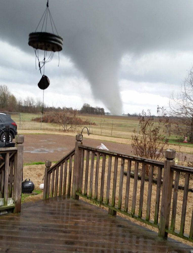 Tornado in Mississippi. Beeld afp