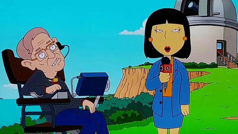 Karikatuur van Hawking in de televisieserie Family Guy Beeld Gabriel Eisenmeier