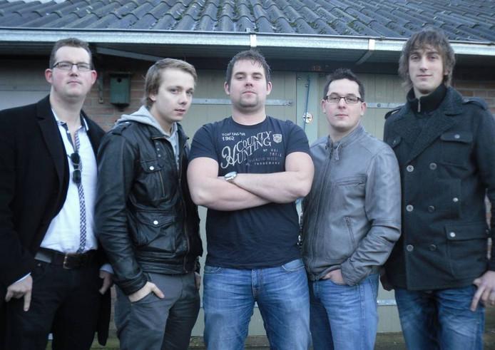 Pulse, met v.l.n.r. Maarten, Jordy, Tom, Dusan en Thijs. eigen foto