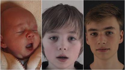 16 jaar in 4,5 minuten: kijk hoe baby Vince opgroeit tot kloeke tiener