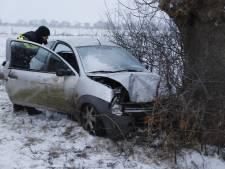 Auto raakt van de weg en rijdt tegen boom in Middelaar