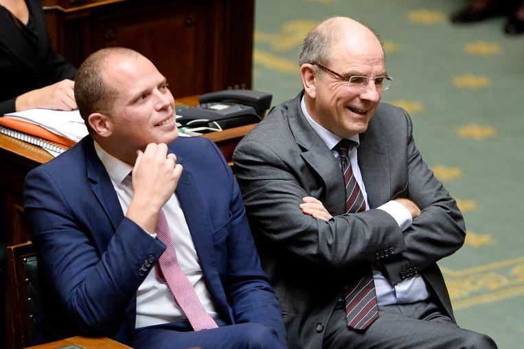 Staatssecretaris voor Asiel en Migratie Theo Francken (N-VA) en Justitieminister Koen Geens (CD&V).