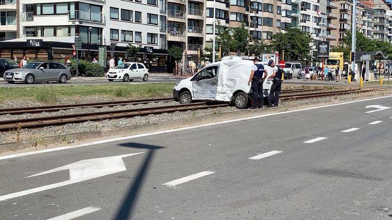 Ongeval kusttram Elisabethlaan Knokke