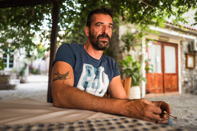 De Griekse visser Stratos Valamios. Beeld Nicola Zolin