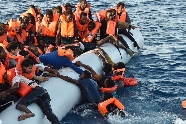 Archiefbeeld, veel Afrikaanse migranten proberen via Libië de oversteek naar Europa te maken.
