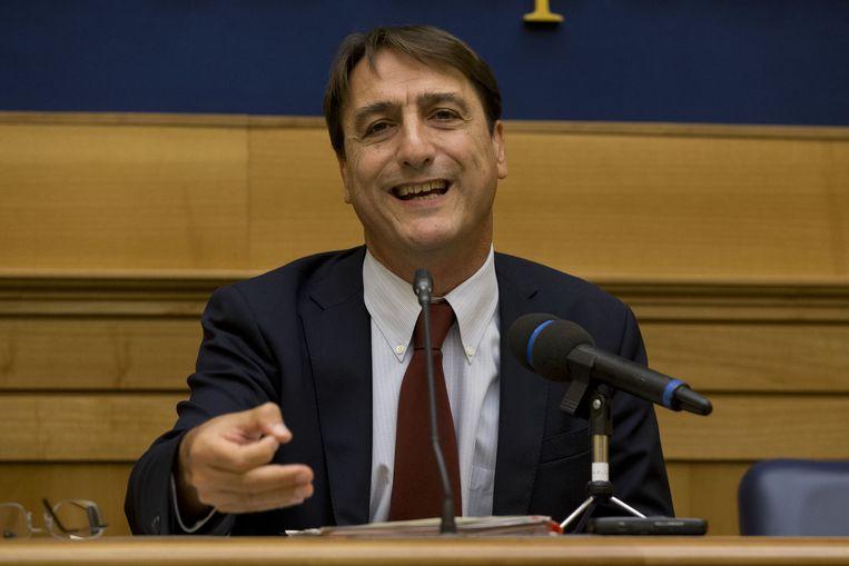Claudio Fava, vicevoorzitter van de antimaffiacommissie van het Italiaanse parlement. Beeld ap