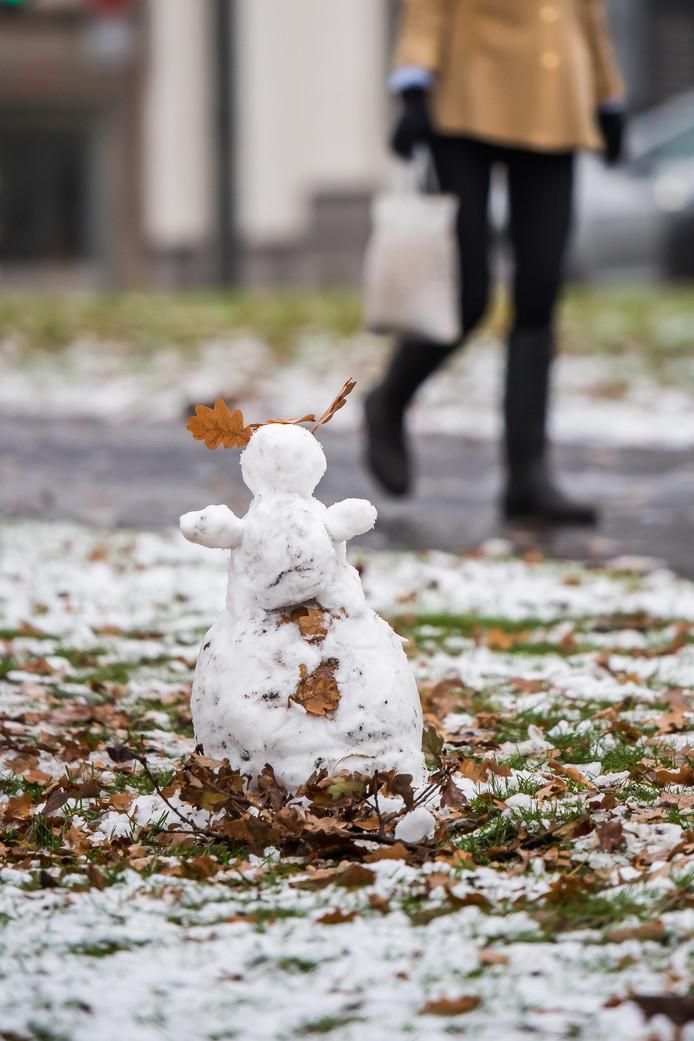 sneeuwval in Arnhem
