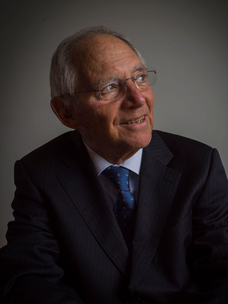 Wolfgang Schäuble: 'Jeroen Dijsselbloem zei ooit tegen me: 'Wolfgang, jij bent zoveel Europeser dan ik.''  Beeld ANP