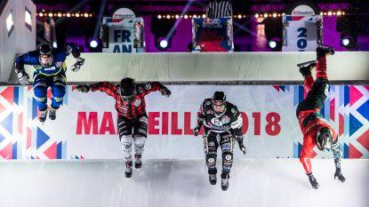 De beste skaters flitsen over het parcours van Marseille