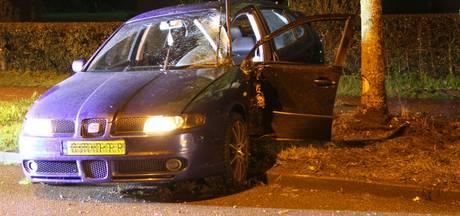 Auto rijdt tegen boom in Nijverdal