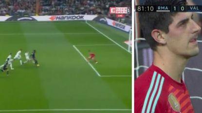"""Courtois oogst lof in Spanje na """"wonderbaarlijke redding"""" op poging van Batshuayi: """"Het Bernabéu gaf hem een staande ovatie"""""""