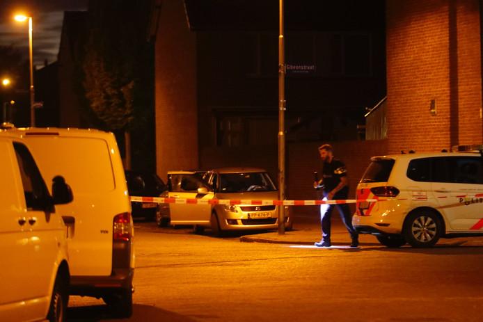 Beeld van de Sionstraat in Eindhoven waar de dodelijke schietpartij plaatsvond.