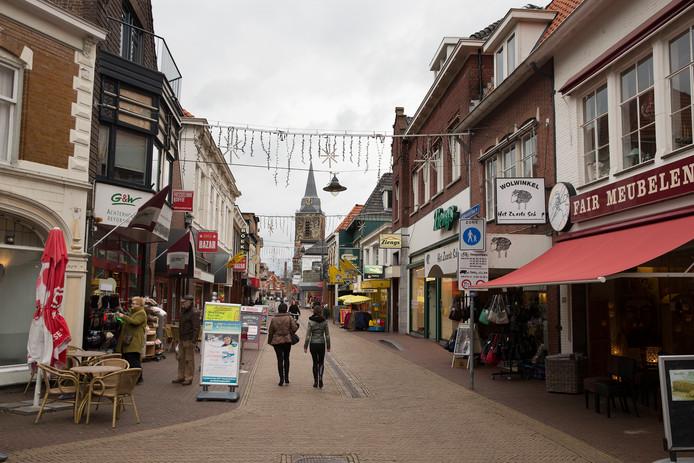 Winkelstraat het Weurden in het centrum van Winterswijk.