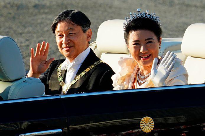 De Japanse keizer Naruhito en zijn vrouw keizering Masako.