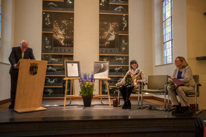 De ceremonie vrijdag in Het Klooster in Nuenen.