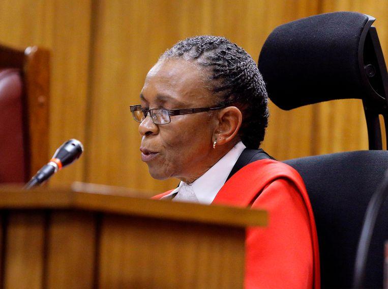 Rechter Thokozile Matilda Masipa. Beeld REUTERS