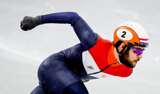 Knegt tijdens de Olympische Winterspelen van Pyeongchang, waar hij zilver pakte.