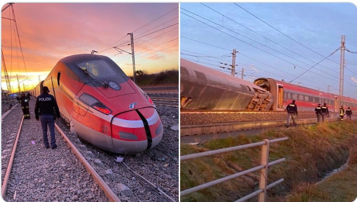 Accident de train en Italie