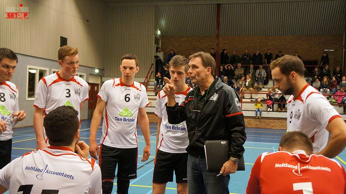 Coach Peter Gaillard gaat met Set Up naar de eerste divisie, het derde niveau in Nederland.