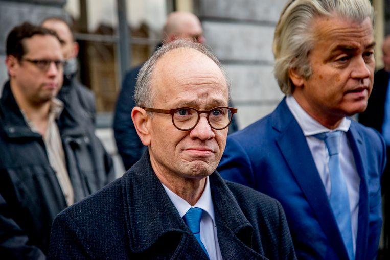 Henk van Deún, lijsttrekker van de PVV in Utrecht naast Geert Wilders.