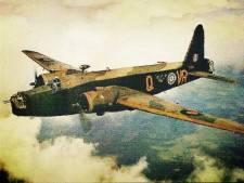 Vliegtuigmotor neergestorte Vickers Wellington als monument