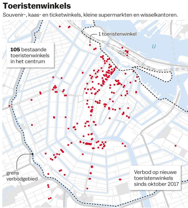 Toeristenwinkels in Amsterdam, bron: Gemeente Amsterdam Beeld Laura van der Bijl