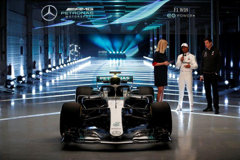 De W09, waar Lewis Hamilton straks in mag gaan rijden.