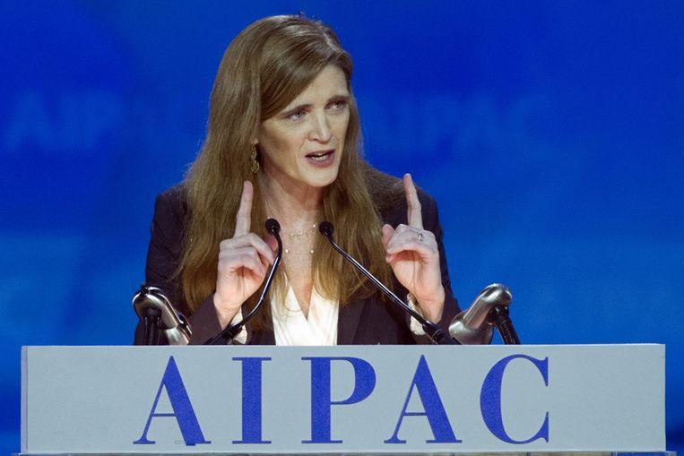 Amerikaanse VN-gezant Samantha Power Beeld ap