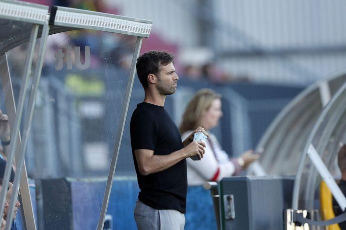 Gonzalo Garcia aan het werk in de wedstrijd bij Fortuna Sittard.