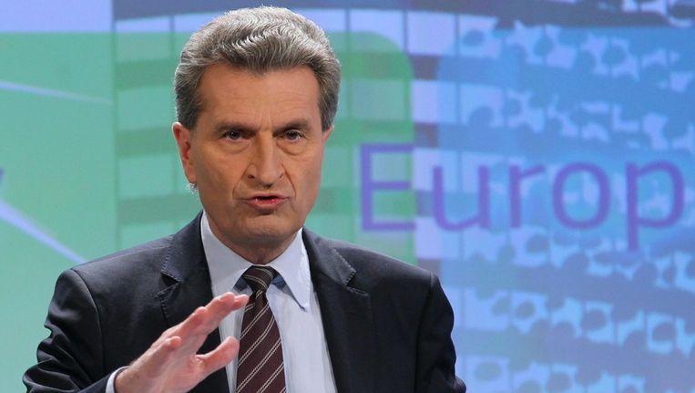 Gunther Oettinger, eurocommissaris voor Energie. Beeld epa