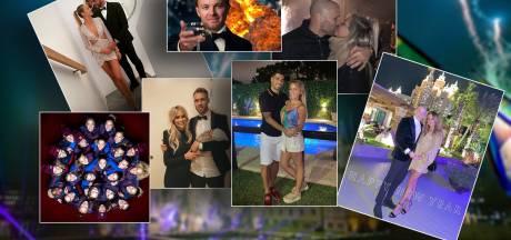 Donny, Annemiek, Graziano en Kika wensen iedereen een 'Happy New Year'