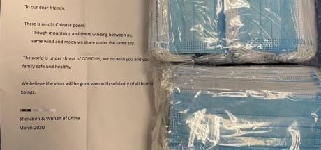 Mondkapjes cadeau uit China: 'We geloven dat het virus snel verdwijnt'